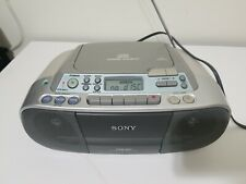 SONY CFD-S01 CD Digital Audio CD-R/RW Playback Cassette Radio Boombox Works!!