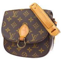 Auth LOUIS VUITTON Mini Saint Cloud Shoulder Bag Monogram Brown M51244 88ER852