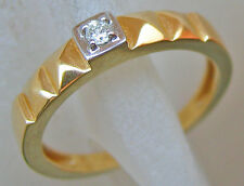 Nice 🎁 ✨✨0,07 ct.✨✨ Solitär in aus 585er Gold Ring mit Diamant Brillant Diamond