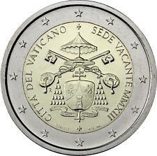 Vatikan 2 Euro 2013 Sedisvakanz Gedenkmünze Der leere Papst Stuhl im Folder