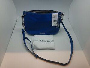 $278msrp.BRAND NEW MICHAEL KORS Lillie Large Messenger Leather Bag, Grecian Blue