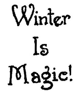 Winter Is Magic Small Saying Wood Mounted Rubber Stamp NORTHWOODS A10361 New