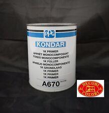 FONDO MONOCOMPONENTE 1K PRIMER A670 KONDAR PPG 1LT GRIGIO X CARROZZERIA E MOTO