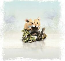 More details for richard cooper studio mice bronze resin woodland mice couple ornament 257br new
