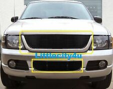 FOR 02 03 04 05 Ford Explorer Black Grille Billet Grille Grill Combo Inserts