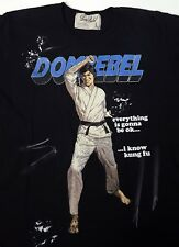 Dom Rebel M Herren Shirt Kung Fu Fighter Hand Painted Detail T Shirt Dsitressed