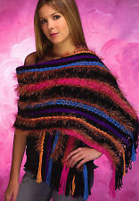 COLORFUL Fun Shawl/Apparel/ Crochet Pattern INSTRUCTIONS ONLY