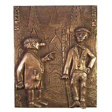 11 cm Bronze relief Helping Hand Bronze Relief helfende Hand Famlilie 16 cm