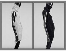 $1700 Size Medium Thomas Wylde Gray Angora Sweater Dress Zip Bottom