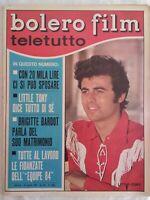 Bolero 1042 Tony Bardot Hardy Falana Girardot Medici Andress Sommer Equipe 84