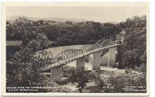 Bridge Over Cumberland River Burnside KY Postcard 1939