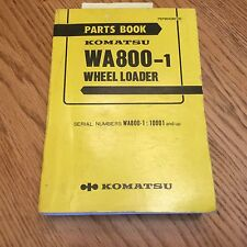 Komatsu WA800-1 PARTS MANUAL BOOK CATALOG WHEEL LOADER PEPB04280100 GUIDE LIST