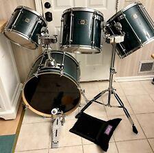 Mapex Mars Pro Series 4-Piece Drum Set, 22�,16�,14�,12 Green Marble, Evans Heads