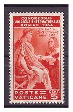 VATICANO 1935 -  CONGRESSO GIURIDICO  Cent. 5  NUOVO ** CENTRATO