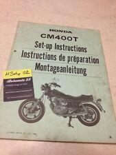 Honda CM400T Custom  CM400 T CM 400 400CM Instruction préparation set-up