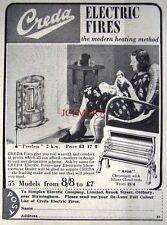 Small 1938 'CREDA' Electric Fire AD - Original Art Deco Print ADVERT