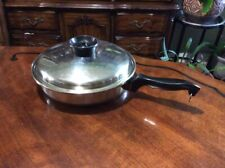 Chef's Ware 11 1/4 in Stainless Steel Skillet 18-8 Tri-Ply With Lid USA