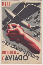 More details for spain spanish civil war p.s.u. aviacio air force republican propaganda pc -sp23
