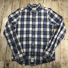 Abercrombie & Fitch Plaid Flannel Utility Shirt Mens Sz M Medium Muscle Fit