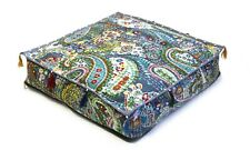 """18x18x4"""" Inch Indian Cushion Cover Floor Pillow Square Paisley Box Cushion*Cover"""