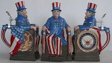 United States Navy Uncle Sam character beer stein