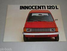 Pubblicità AUTO prospetto Leyland Innocenti 120l 120 L, stand 04/1977