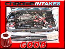 RED NEW COLD AIR INTAKE KIT FOR 88-95 TOYOTA PICKUP/4RUNNER 3.0 3.0L V6