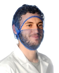 10 x BEARD NETS / SNOODS, BLUE,BROWN,WHITE,RED,GREEN Catering, Chefs, Hygiene.