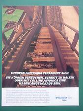 11/1996 PUB ROCKWELL COLLINS AVIONICS GRAND 8 MANEGE MONTAGNE RUSSE GERMAN AD