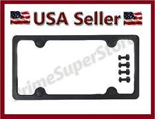 1 Plain Black Plastic License Plate Frame Cover Fasteners & Caps 4 Car/Truck Tag