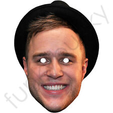 Olly Murs Oli Murrs in Hat Celebrity Singer Card Mask - Made In The UK