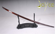 Folded Steel Man Made Red Blade For Japanese Samurai Sword Katana Battle Ready