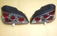PEUGEOT 106 1996-2003 CHROME LEXUS REAR LIGHTS LAMPS E-MARKED NEW BARGAIN SS666