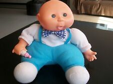 Cute Bald Companion Boy Doll w/ Blue Eyes, Bottle; 11 Inch ;Like Cabbage Patch