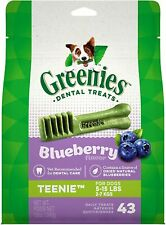 Greenies Blueberry Teenie Size 43 count 12 oz | Dental Treats for Dogs