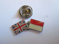 Poland & Uk Friendship Enamel Metal Lapel Pin  -24 x 8mm   -  L081