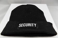 SECURITY Cop Guard Patch BLACK Beanie Knit Cap Hat Motorcycle BIKER MC BEA-0011