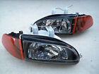 For Honda Civic Eg Ej Jdm Black Headlights Smoked Amber Corners Sir City Light