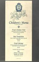 Disney Menu Disneyland Club 33 Children dated 1985