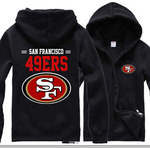 San Francisco 49ers Hoodie Football Sweatshirt Men's Casual Jacket Zipper Hooded