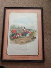 A 19thc print no56 by r. Simkin of the Leicestershire regiment 17th foot