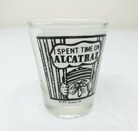 Vtg 70s 1977 Property of Alcatraz Penitentiary Frosted Liquor Whiskey Shot Glass