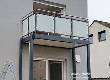 3 x 1,5 m Balkon Anbaubalkon Fertigbalkon Pulverbeschichtung Sichtschutz Glas