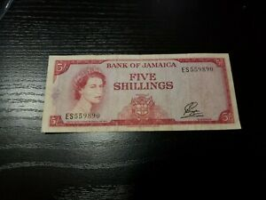 🇯🇲 Jamaica 5 shillings 1960 (1961) P-49   Banknote 051621-1
