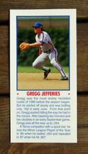 "Gregg Jefferies 5""X11"" Photo Placard Booklet Cover Cut Mint Oddball"