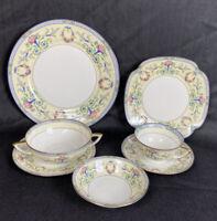 PUN2 by Porcelain Union SEVEN Piece Place Settting Czechoslovak Vintage EUC