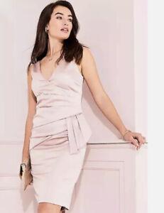 kaleidoscope Pink Satin Dress Size 14 New Was £99