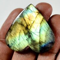untreated 41.60 Cts  Blue Multy Flash Labradorite Heart Cabochon Gemstone MF-157