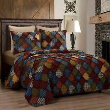 Donna Sharp Blue Ridge Rag Quilt Cotton Country King 3-Piece Bedding Set