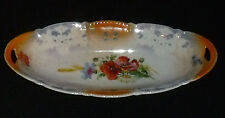 "Celebrate China Germany Celery Dish Bowl Tray 9.75"" Vtg Lustre Ware Handled"